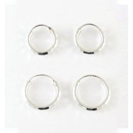 2mm Diamond Cut Hoop 12mm - 16mm