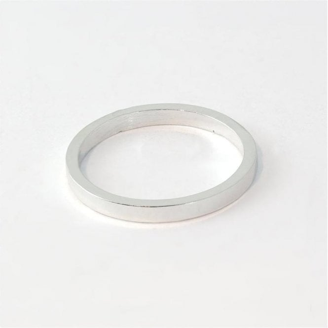 2mm Flat Court Ladies Ring