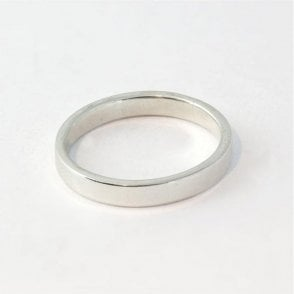 3mm Flat Court Ladies Ring