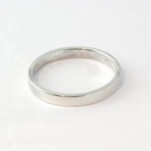 3mm Flat Court Mens Ring