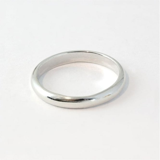 3mm Rounded Court Ladies Ring