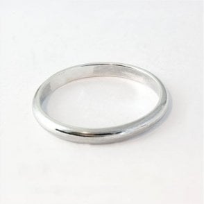 3mm Rounded Court Mens Ring