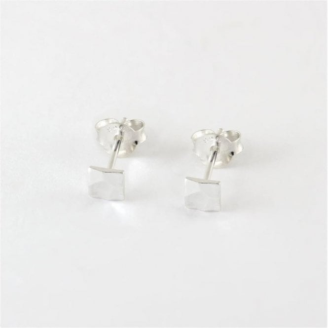 4mm Beaten Square Studs