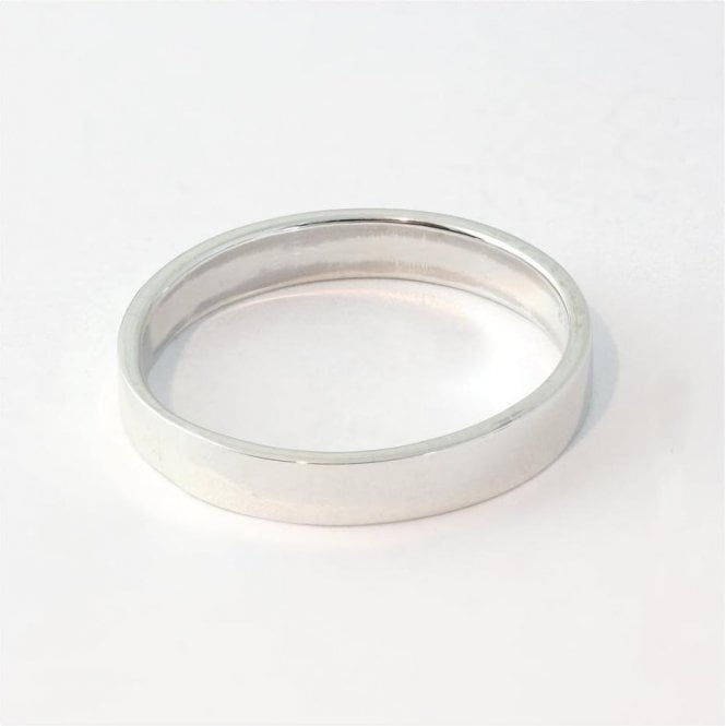 4mm Flat Court Mens Ring