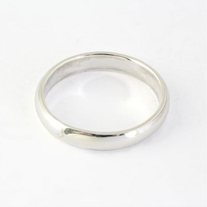 4mm Rounded Court Mens Ring