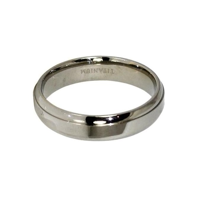 5mm Rounded Band Titanium Ring