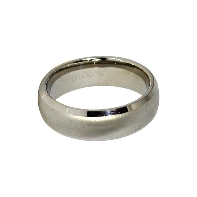 6mm Rounded Band Titanium Ring