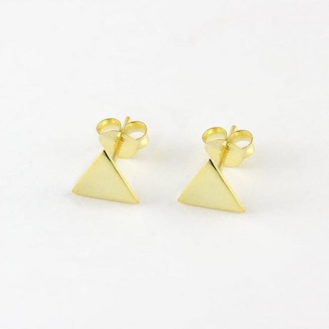 7mm Gold Triangle Stud