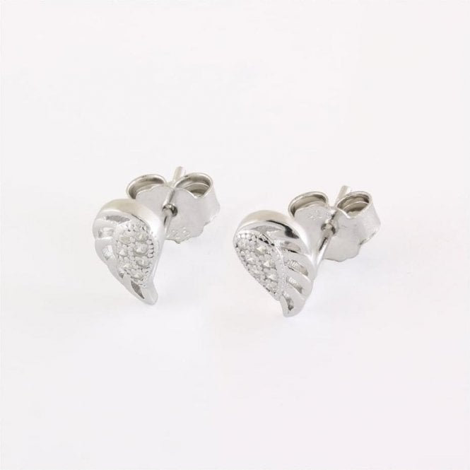 Angel Wings CZ Studs