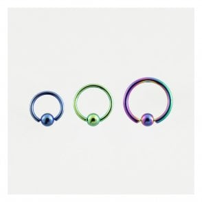 Anodised Titanium Ball Closure Ring (BCR) - 1.2mm & 1.6mm