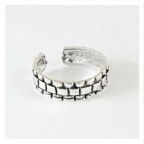 Armour Textured Toe Ring