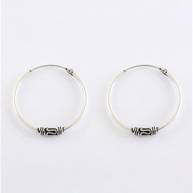 Bali Coil Hoop Earrings - 20mm