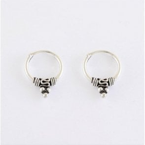Bali Hoop Earrings - 12mm