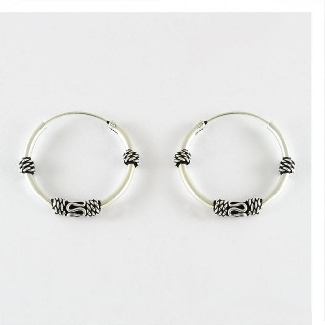 Bali Hoop Earrings - 18mm