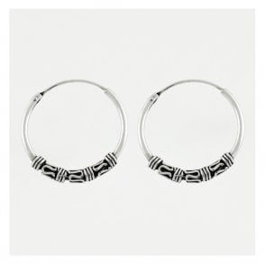 Bali Style Hoop Earrings -18mm