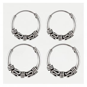 Bali Triple Weave Hoops 12 - 14mm