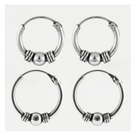 Bali Weave and Ball Hoops 10 - 12mm