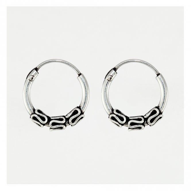 Balinese Style Hoop Earrings 10mm