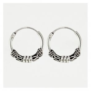 Balinese Style Hoop Earrings 12mm