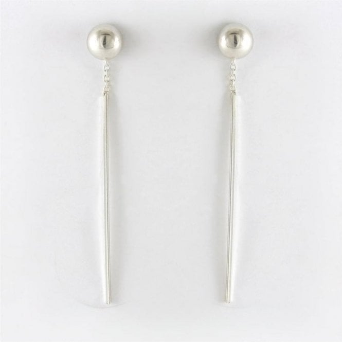 Bar and Ball Earrings