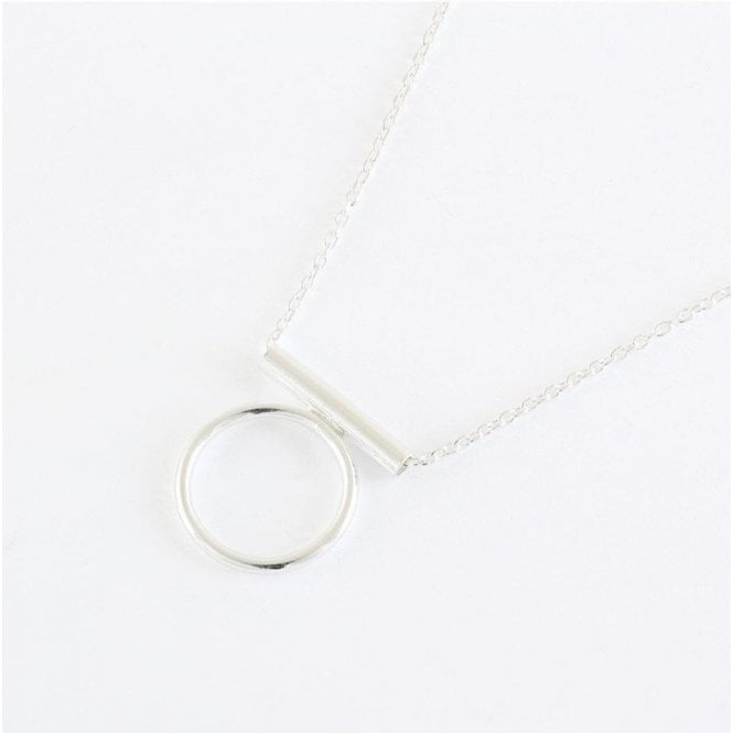 Bar & Round Necklace