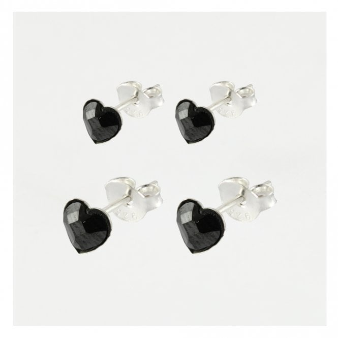 Black Heart Ear Stud
