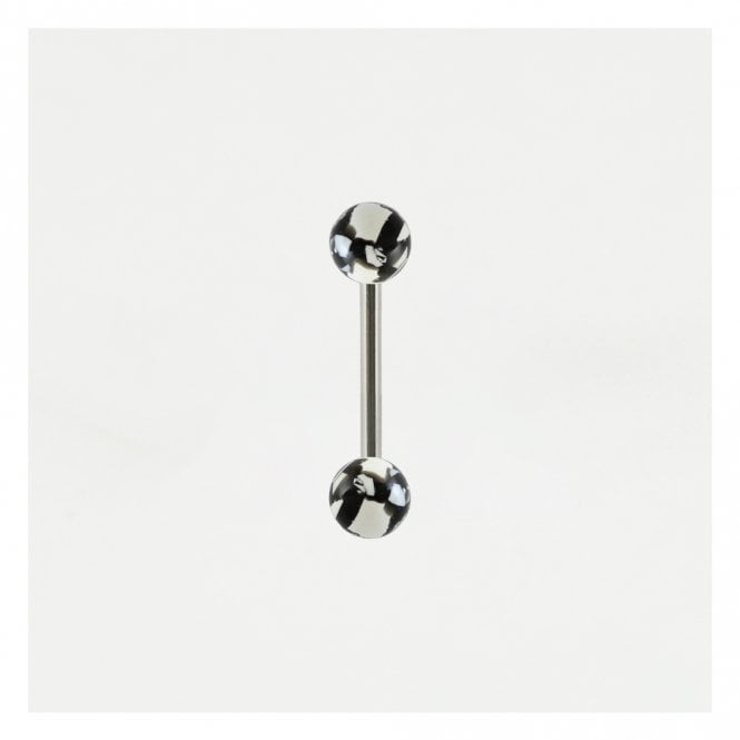 Black & White Straight Barbell