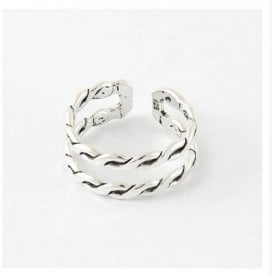 Chain Style Double Banded Ring