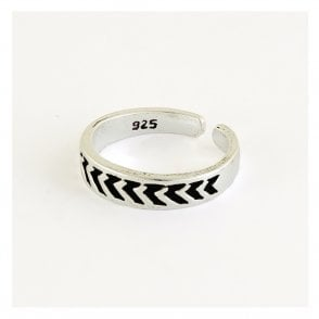 Chevron Toe Ring