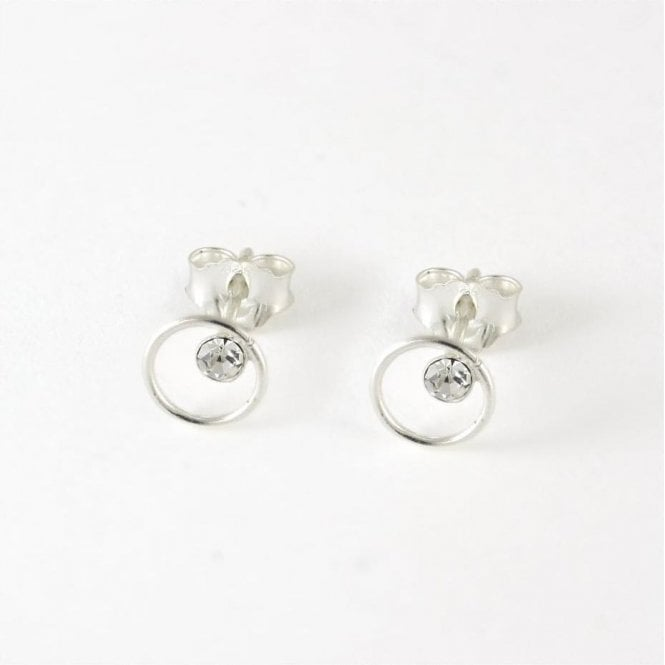 Clear CZ Circle Stud