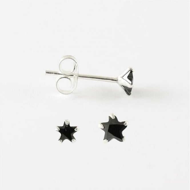Cubic Zirconia Star Ear Stud 3 - 4mm