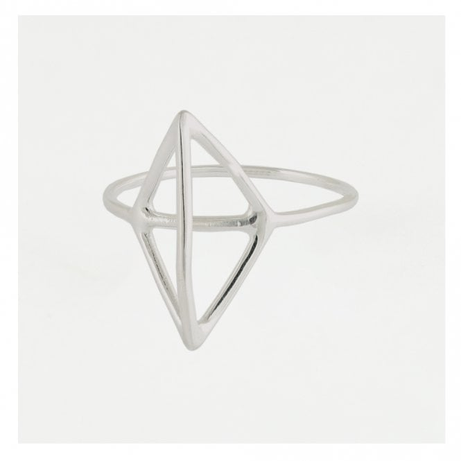 Cut Out Caged Diamond Ring