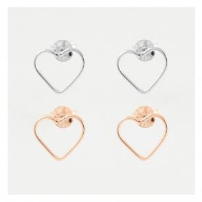 Cut Out Heart Studs