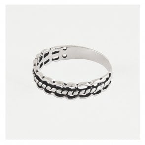 Cut Out Rope Band Ring