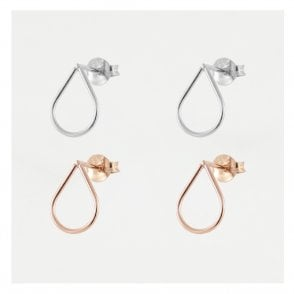 Cut Out Teardrop Studs