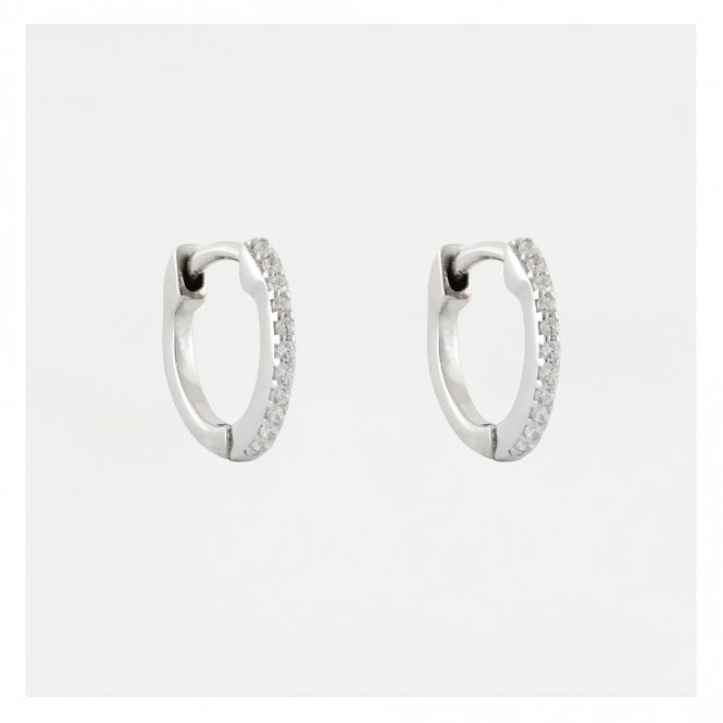 CZ Huggie Hoop Earrings