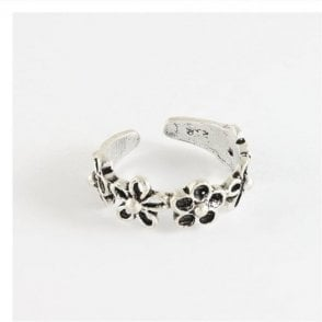 Daisies Band Toe Ring