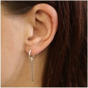 Dangly Bar Hoop Earrings