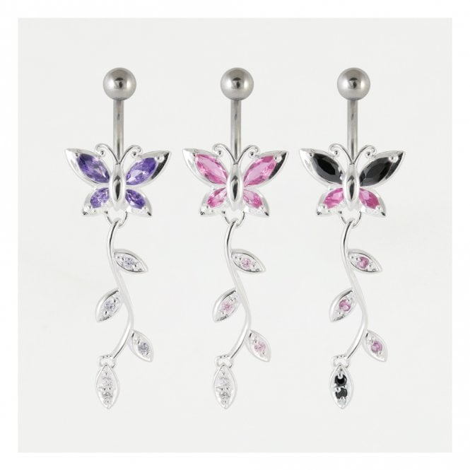 Dangly Butterfly Belly Bar