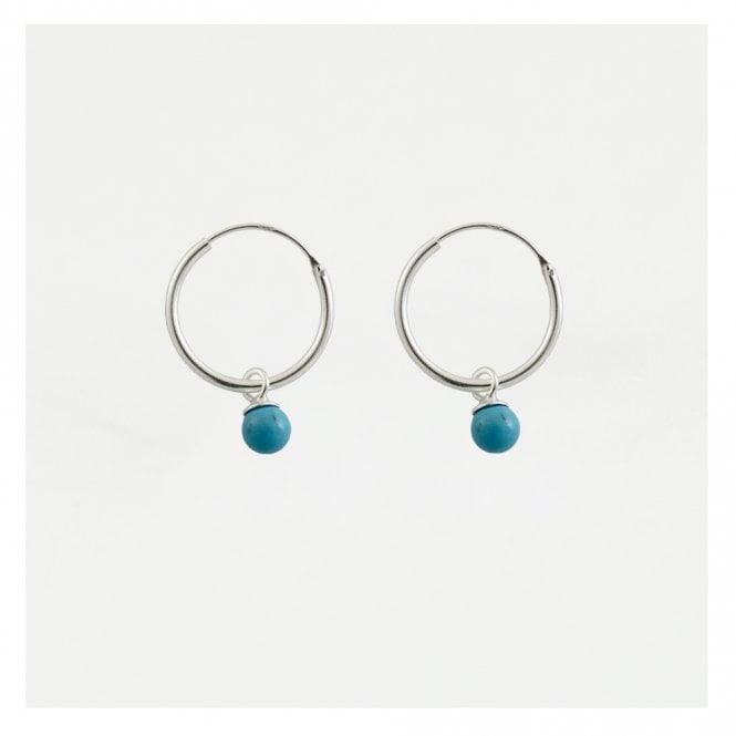 Dangly Turquoise Hoops