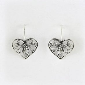 Decorative Heart Earrings