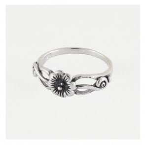 Decorative Swirl Flower Ring