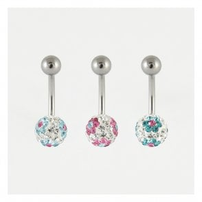 Disco Flowers Ball Belly Bar