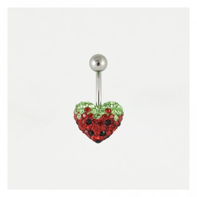 Disco Heart Strawberry Belly Bar