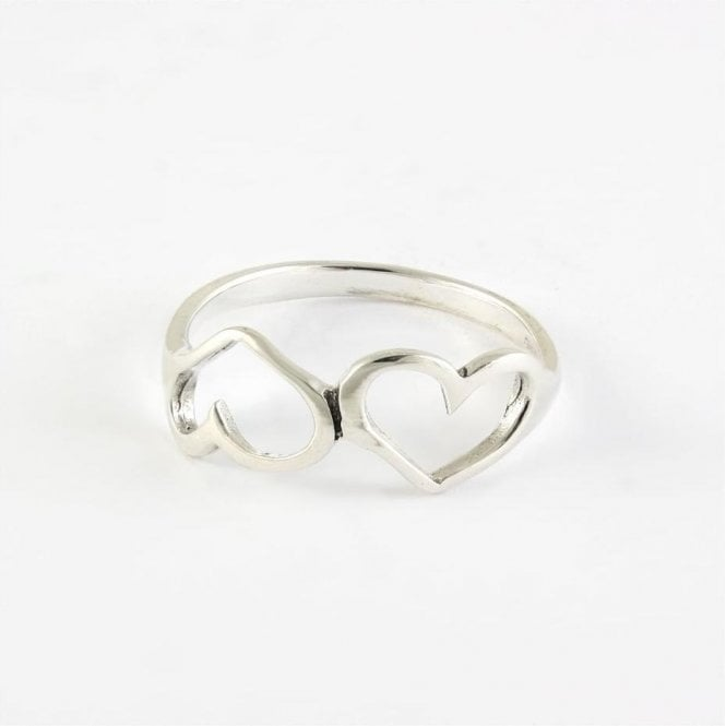 Double Cut Out Heart Ring