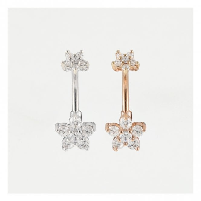 Double Flower Belly Bar
