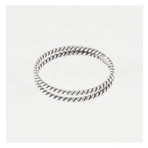 Double Oxidised Twist Ring