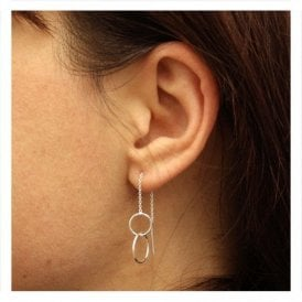 Double Round Through Earrings