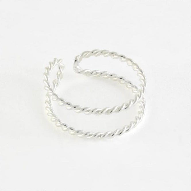 Double Twisted Toe Ring
