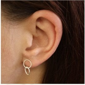 Double Wire Circle Ear Studs
